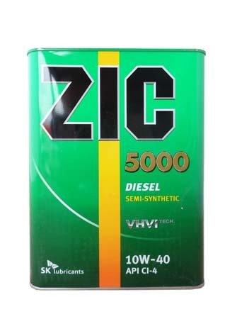 Моторное масло ZIC 5000, 10W-40, 4л, 163128