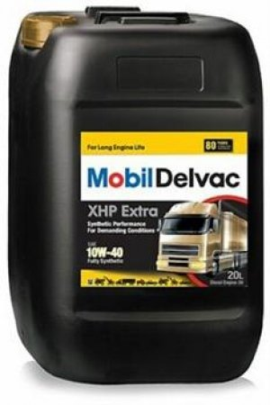 Моторное масло Mobil Delvac XHP Extra, 10W-40, 20л