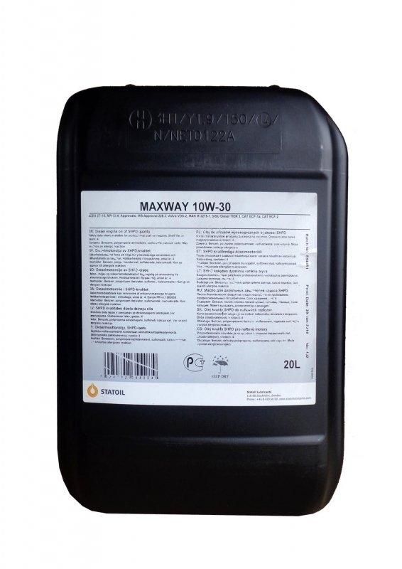 Моторное масло STATOIL Maxway, 10W-30, 20л, 1001003