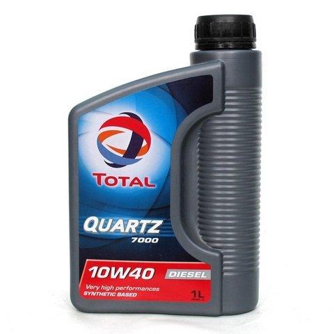 Моторное масло TOTAL QUARTZ 7000 Diesel, 10W-40, 1л, 166247