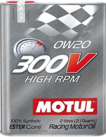 Моторное масло MOTUL 300V HIGH RPM, 0W-20, 2л, 103122