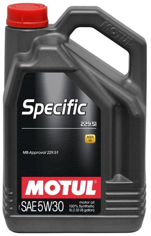 Моторное масло MOTUL Specific MB 229.51, 5W-30, 5л, 101590