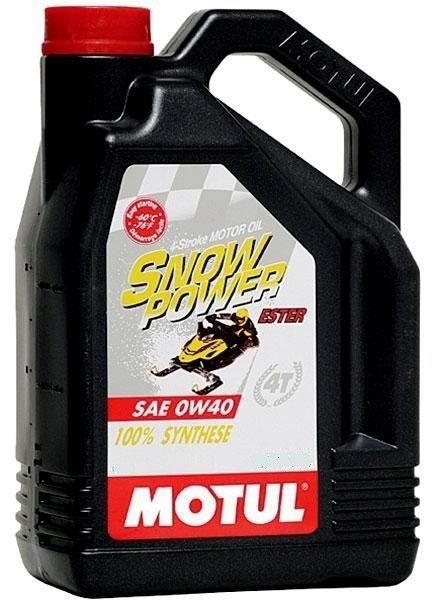 Моторное масло MOTUL Snowpower 4T, 0W-40, 4л, 101231