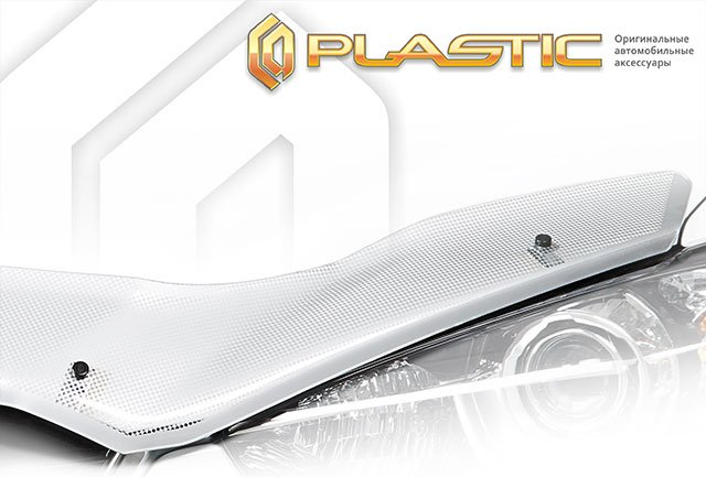 Дефлектор капота для TOYOTA Cresta X100 (1996-1998), серебро, CA PLASTIC, 2010010700126