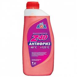 Антифриз AGA, красный, 1л, готовый, AGA001Z