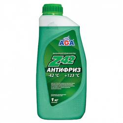 Антифриз AGA, зеленый, 1л, готовый, AGA048Z