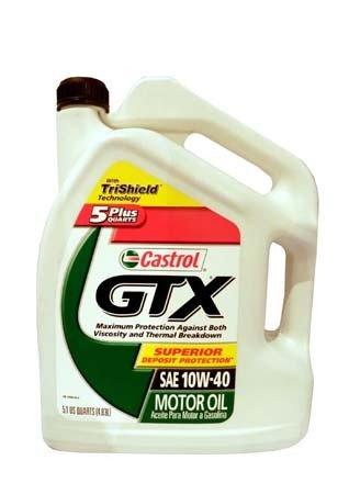 Моторное масло CASTROL GTX SAE 10W-40 Motor Oil (4,83л)