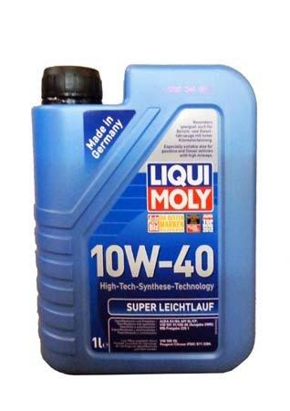 НС-синтетическое моторное масло LIQUI MOLY Super Leichtlauf 10W-40 (1л.)