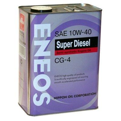 Моторное масло ENEOS SUPER DIESEL CG-4, 10W-40, 4л, 8801252021971