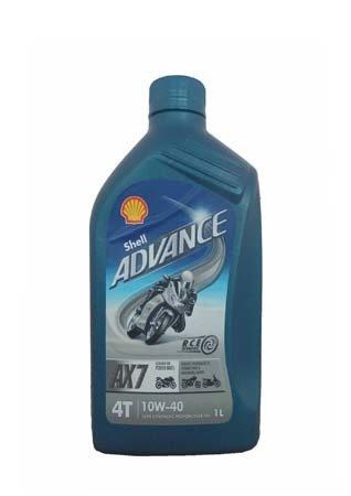 Моторное масло для 4-Такт SHELL Advance 4T AX7 SAE 10W-40 (1л)