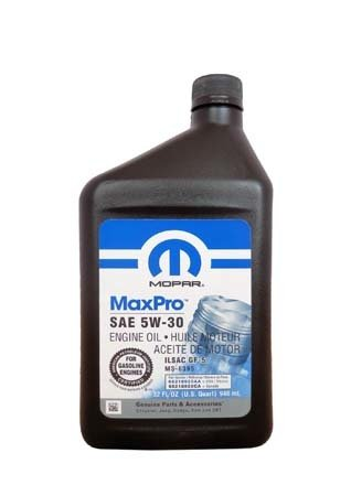Моторное масло MOPAR MaxPro SAE 5W-30 (0,946л)