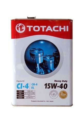Моторное масло TOTACHI Heavy Duty CI-4/CH-4/SL SAE 15W-40 (4л)