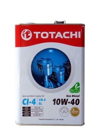 Моторное масло TOTACHI Eco Diesel Semi-Synthetic CI-4/CH-4/SL SAE 10W-40 (4л)