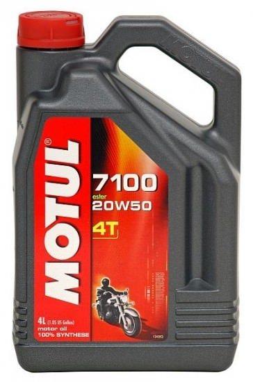 Моторное масло MOTUL 7100 4T, 20W-50, 1 л, 104103