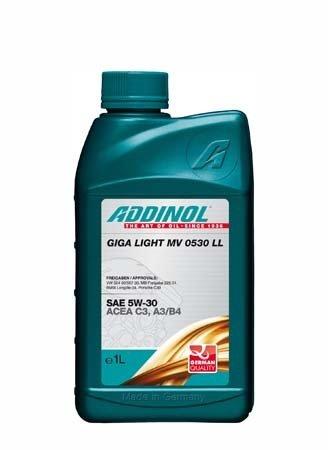 Моторное масло ADDINOL Giga Light (Motorenol) MV 0530 LL SAE 5W-30 (1л)