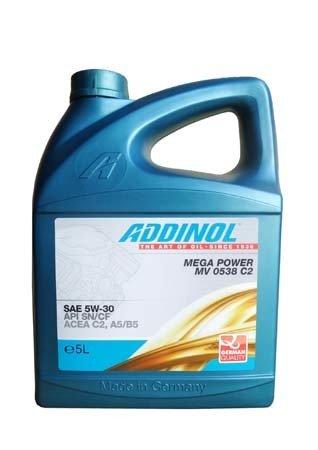 Моторное масло ADDINOL Mega Power MV 0538 C2 SAE 5W-30 (5л)