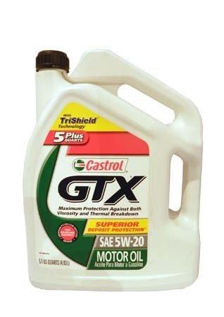 Моторное масло CASTROL GTX SAE 5W-20 Motor Oil (4,83л)