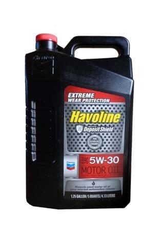 Моторное масло CHEVRON Havoline Motor Oil SAE 5W-30 (4,73л)