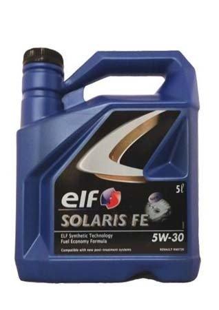 Моторное масло ELF Solaris FE SAE 5W-30 (5л)