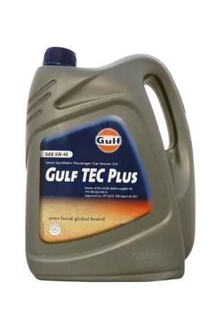 Моторное масло GULF TEC Plus SAE 5W-40 (4л)