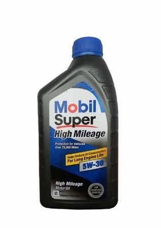 Моторное масло MOBIL Super High Mileage SAE 5W-30 (0,946л)