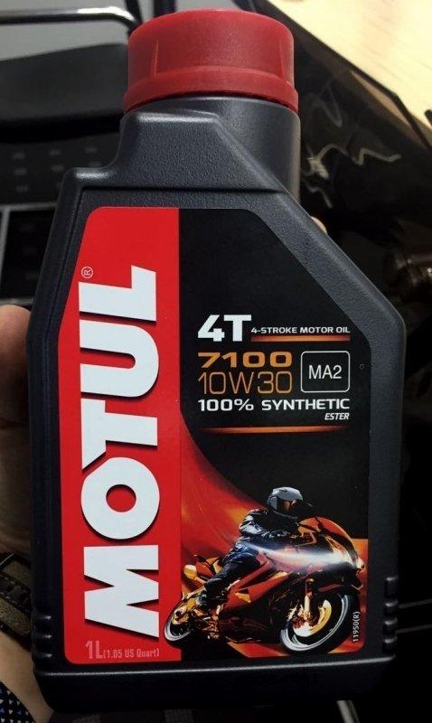 Моторное масло MOTUL 7100 Synthetic Ester 4T, 10W-30, 1 л, 104089