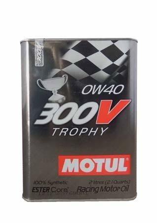 Моторное масло MOTUL 300V TROPHY, 0W-40, 2л, 103127
