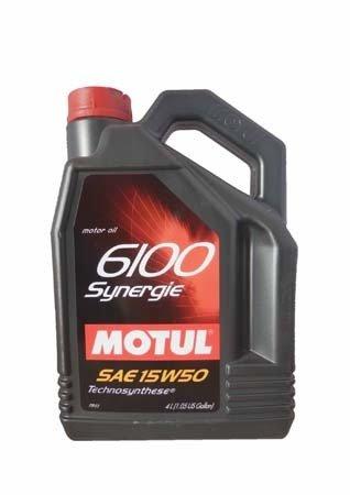 Моторное масло MOTUL 6100 Synergie, 15W-50, 4л, 100327