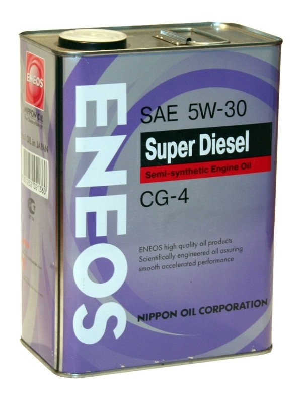 Моторное масло ENEOS Super Diesel Semi-Synthetic, 5W-30, 4л, 8801252021360