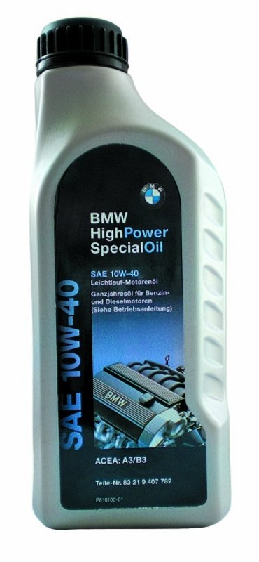Моторное масло BMW High Power Oil, 10W-40, 1л, 83 21 9 407 782