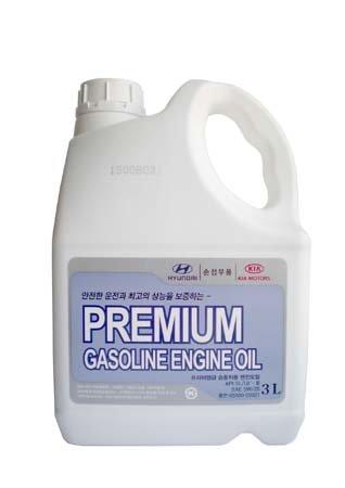 Масло моторное полусинтетическое premium gasoline 5w-20 3l