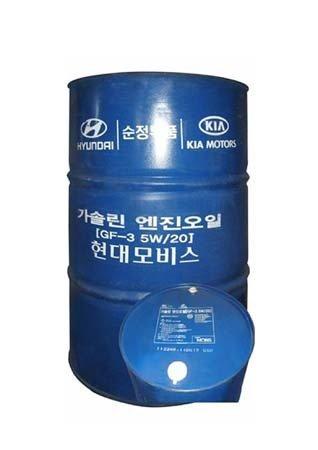 Моторное масло hyundai premium gasoline sae 5w-20 sl/gf-3 (200л)
