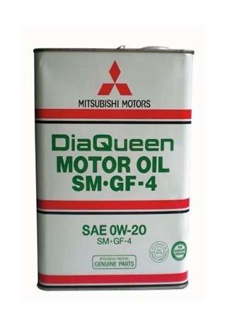 Моторное масло MITSUBISHI DiaQueen SAE 0W-20 SM/GF-4 (4л)