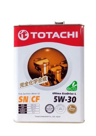 Моторное масло TOTACHI Ultima EcoDrive L Fully Synthetic SN/CF SAE 5W-30 (4л)