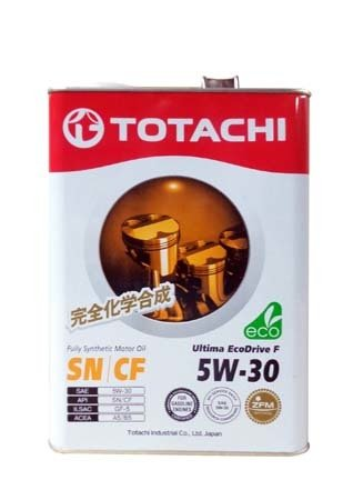 Моторное масло TOTACHI Ultima EcoDrive F Fully Synthetic SN/CF SAE 5W-30 (4л)