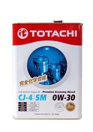 Моторное масло TOTACHI Premium Economy Diesel Fully Synthetic CJ-4/SM SAE 0W-30 (4л)