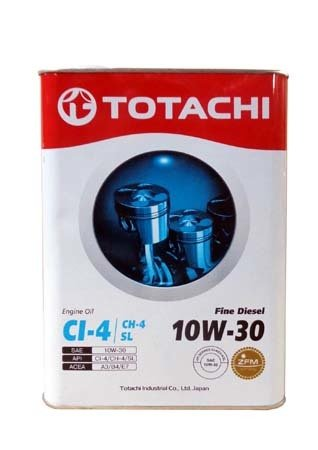 Моторное масло TOTACHI Fine Diesel CI-4/CH-4/SL SAE 10W-30 (6л)