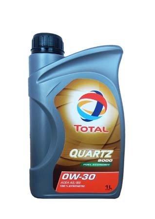 Моторное масло TOTAL QUARTZ 9000, 0W-30, 1л, 180967