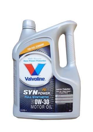 Моторное масло VALVOLINE Synpower FE SAE 0W-30 (4л)