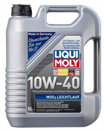 Полусинтетическое моторное масло LIQUI MOLY MoS2 Leichtlauf 10W-40 (5л.)