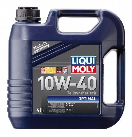 Полусинтетическое моторное масло LIQUI MOLY Optimal 10W-40 (4л.)