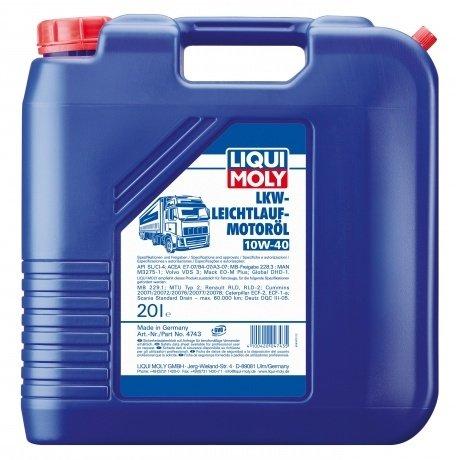 НС-синтетическое моторное масло LIQUI MOLY LKW-Leichtlauf-Motoroil 10W-40 (20л.)