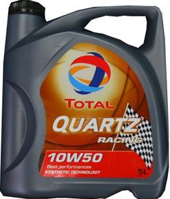 Моторное масло TOTAL QUARTZ RACING, 10W-50, 5л, 157104