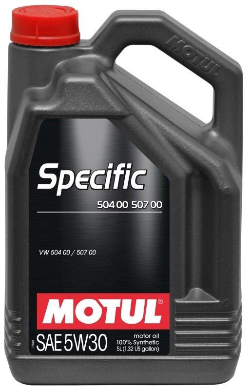 Моторное масло MOTUL Specific 504.00-507.00, 5W-30, 5 л, 101476