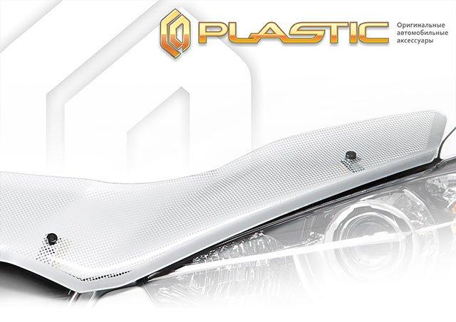 Дефлектор капота для TOYOTA Land Cruiser Prado J90W, J95W (1996-2002), серебро, CA PLASTIC, 20100107