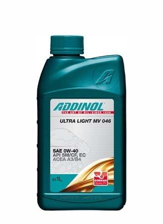 Моторное масло ADDINOL Ultra Light MV 046 SAE 0W-40 (1л)
