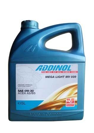 Моторное масло ADDINOL Mega Light MV 039 SAE 0W-30 (5л)