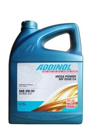 Моторное масло ADDINOL Mega Power MV 0538 C4 SAE 5W-30 (5л)