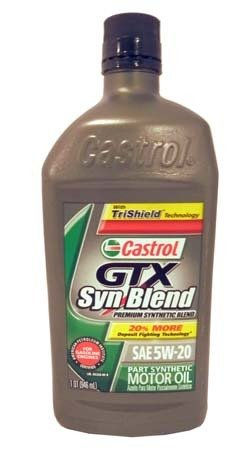 Моторное масло CASTROL GTX Syn Blend SAE 20W-50 Motor Oil (0,946л)