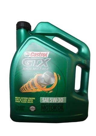 Моторное масло CASTROL GTX High Mileage SAE 5W-30 Motor Oil (4,83л)